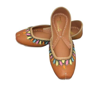 Shaded Rainbow Leather Flats