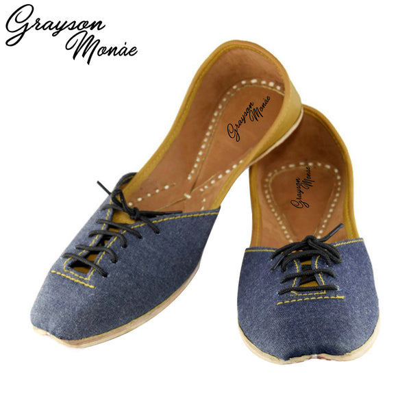 Denim Brogues