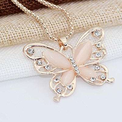 Butterfly Rhinestone Necklace