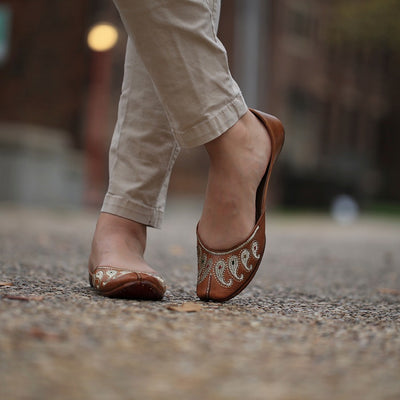 Leather Royale flats