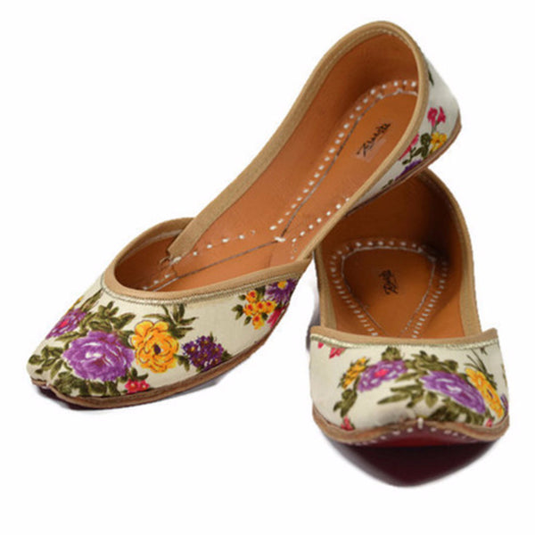 Handmade Shoes - Floral Elegance