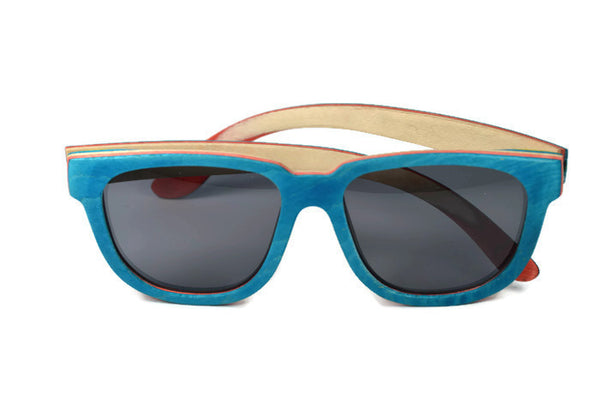 Sunglasses - Aqua Skateboard Wood