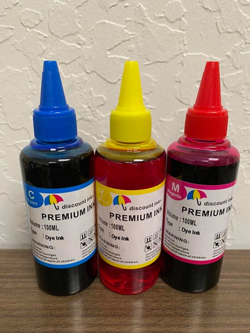 3x100ml Color Universal Premium Refill Ink for Epson Canon HP Brother Lexmark Dell Printers