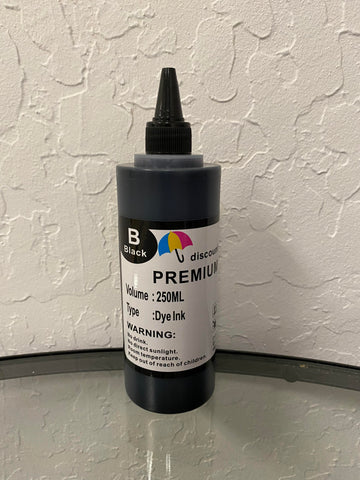 250ml Black Universal Premium Refill Ink for Epson Canon HP Brother Lexmark Dell Printers