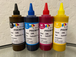 4x250ml Premium SUBLIMATION Refill Ink