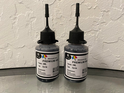 2x30ml Black Universal Premium Refill Ink for Epson Canon HP Brother Lexmark Dell Printers
