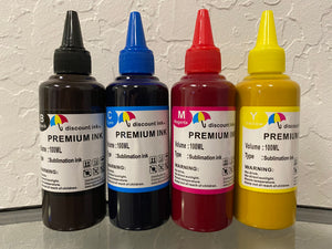 4x100ml Premium SUBLIMATION Refill Ink