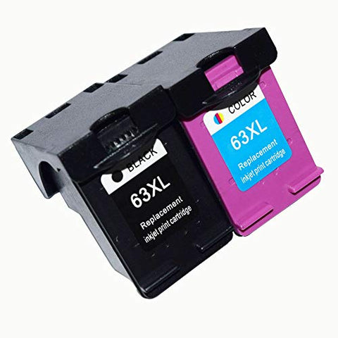 Remanufactured Ink Cartridge Replacement for HP 63XL Envy 4520 4512 Officejet 4650 5255 Deskjet 1112 3634 3632 Printer