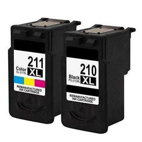 Remanufactured Ink Cartridge Replacements for Canon PG-210XL CL-211XL Ink Pixma iP2700, iP2702, MP230, MP495, MX320, MX420