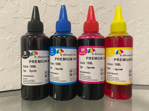 4x100ml Universal Premium Refill Ink for Epson Canon HP Brother Lexmark Dell Printers