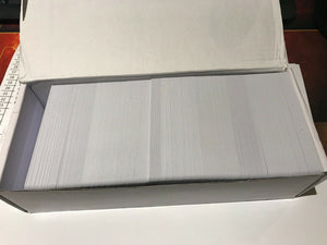 250 CR80 30Mil White Blank PVC Plastic Cards for Photo ID card Printers