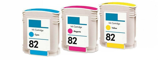Compatible HP 82 Magenta Cyan Yellow Color Set Ink Cartridge