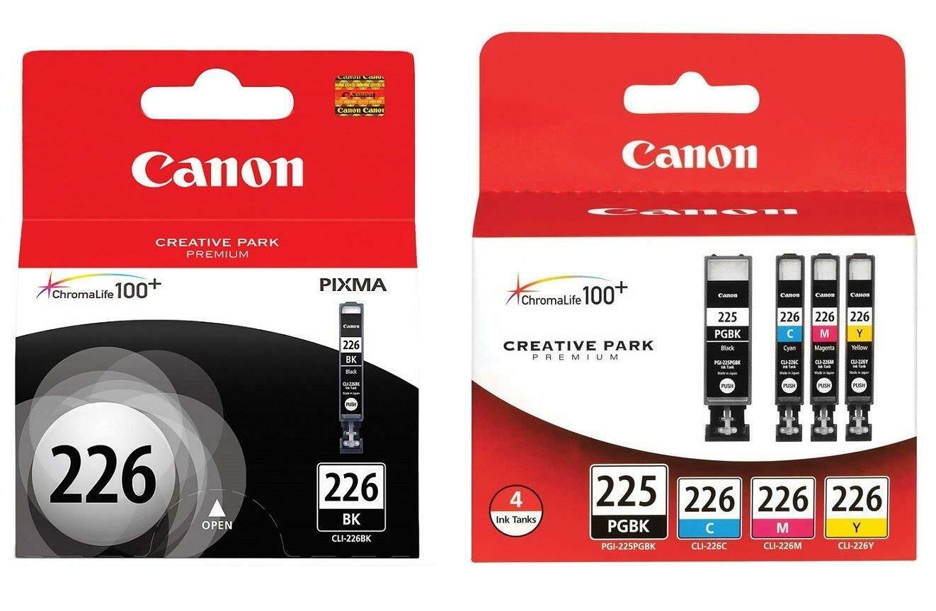 Canon Genuine PGI-225 Black & CLI-226 Ink Cartridges 5-Pack
