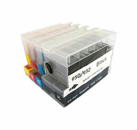 4P Compatible HP 932XL 933XL Refillable Ink Cartridges with Chips show ink level