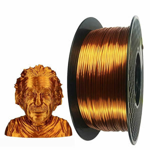 PLA Silk Copper Filament 1.75mm 3D Printer Filament 2.2 LBS Spool 3D Printing
