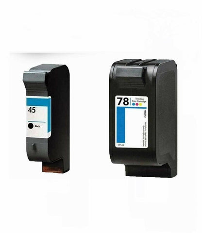 2PK HP 45 78 Ink Cartridge For Deskjet 6122 6127 930C 950C 960C 970 Cse 990 Cxi