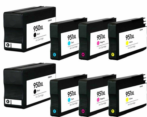 8 pack Ink Cartridge For HP 950XL 951XL OfficeJet Pro 8600 8610 8620 8625 8630