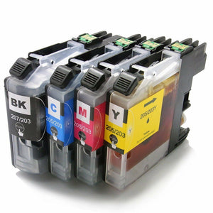 4pk LC207 LC205 Compatible ink cartridge For Brother MFC-J4620DW MFC-J4320