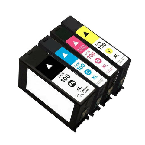 4 PK INK CARTRIDGES FOR LEXMARK 100XL S305 S405 S505 S605 PRO205 PRO905 705