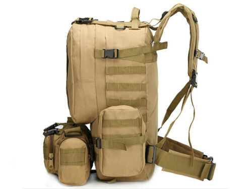55L Sport Outdoor Military Rucksacks Tactical Backpack Camping Hiking