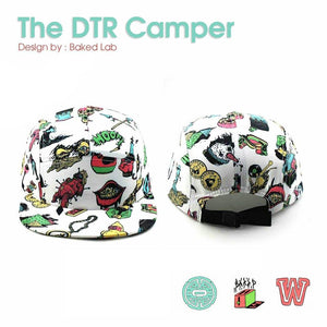 Dub Temple Records x WIPCAPS: The DTR Camper - Design by Baked Lab