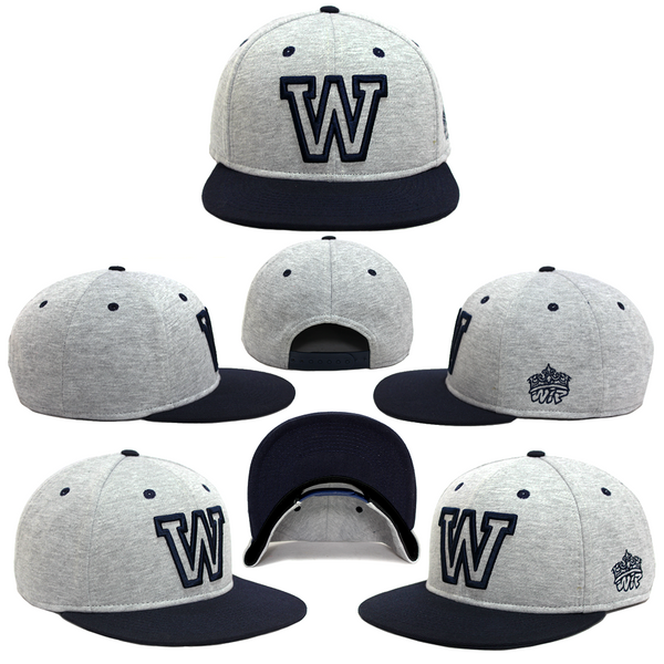 87f14d7b318 The  W  Terry two-tone snapback is made with Gray French Terry fabric for a  soft