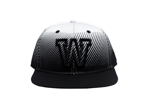 'W' FADED WHITE