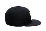 'W' Black Fitted