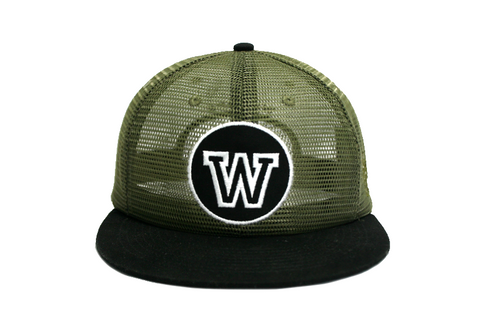 'W' ROUND-UP (Army green mesh)