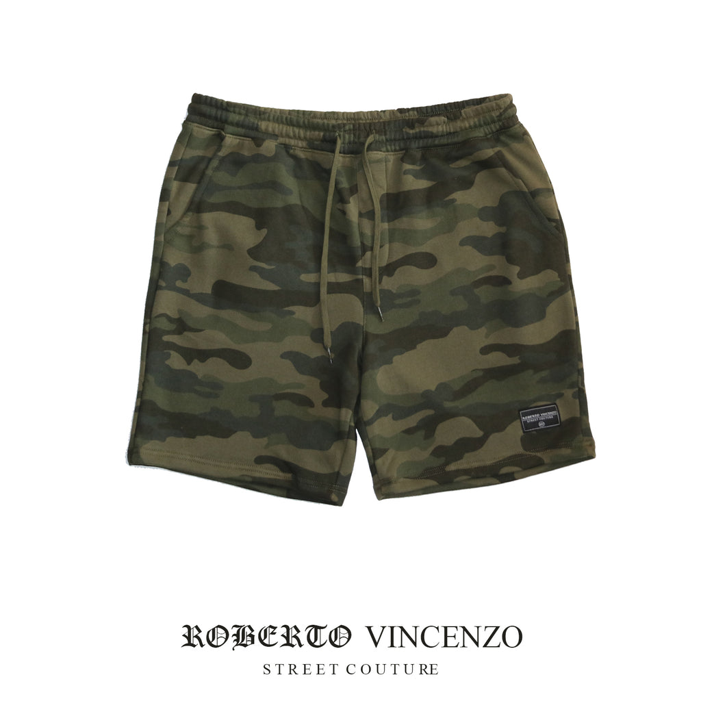 Hustler on the go shorts (Forest Camo)