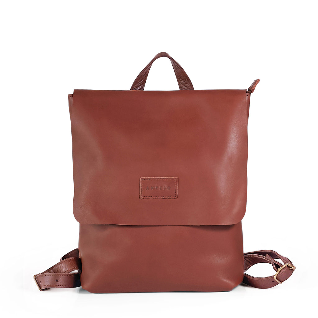 Antelo Henry Leather Backpack - Tan - Macaroon Collection