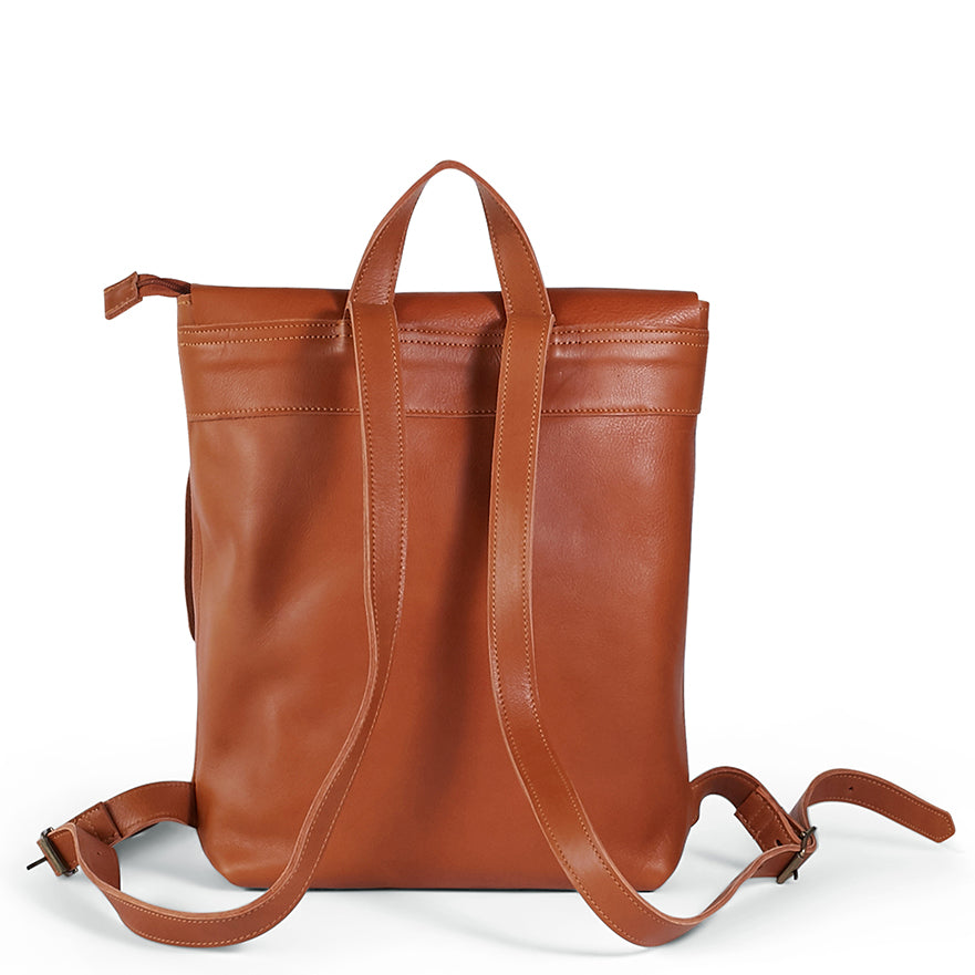 Antelo Henry Leather Backpack - Cider