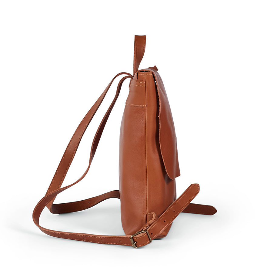Antelo Henry Leather Backpack - Cider - Macaroon Collection