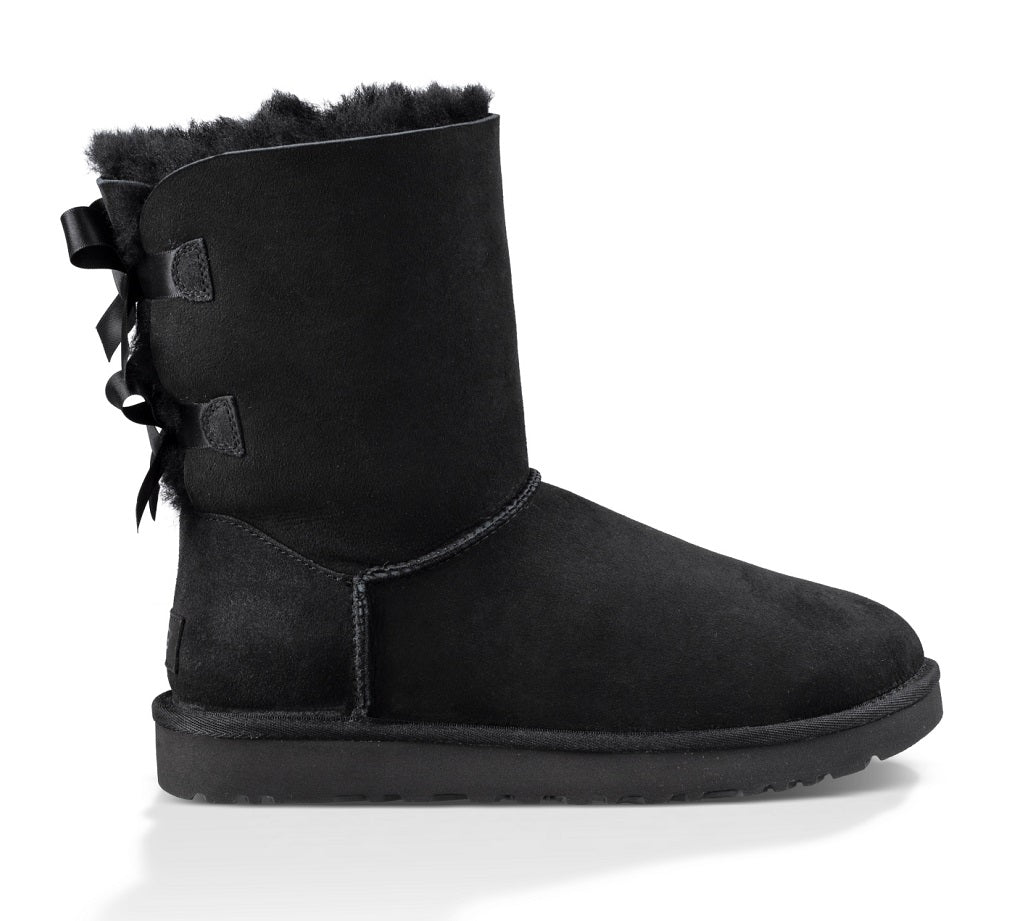 UGG Boot - Bailey Bow II - Black - Macaroon Collection