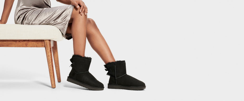 UGG Boot - Mini Bailey Bow II - Black - Macaroon Collection