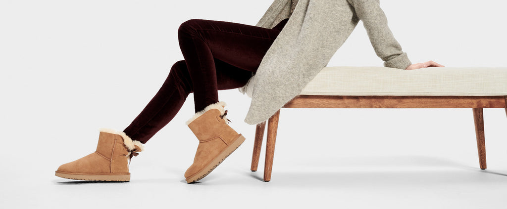 UGG Boot - Mini Bailey Bow II - Chestnut - Macaroon Collection