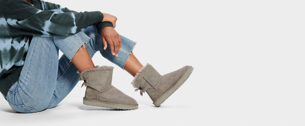 UGG Boot - Mini Bailey Bow II - Grey - Macaroon Collection