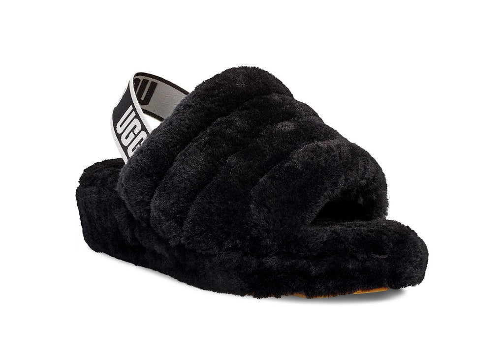 UGG Fluff Yeah Slipper - Black - Macaroon Collection