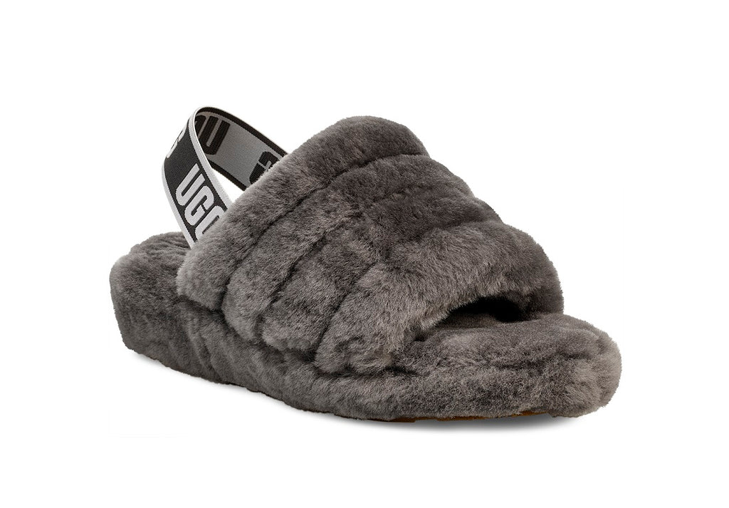 UGG Fluff Yeah Slipper - Charcoal - Macaroon Collection
