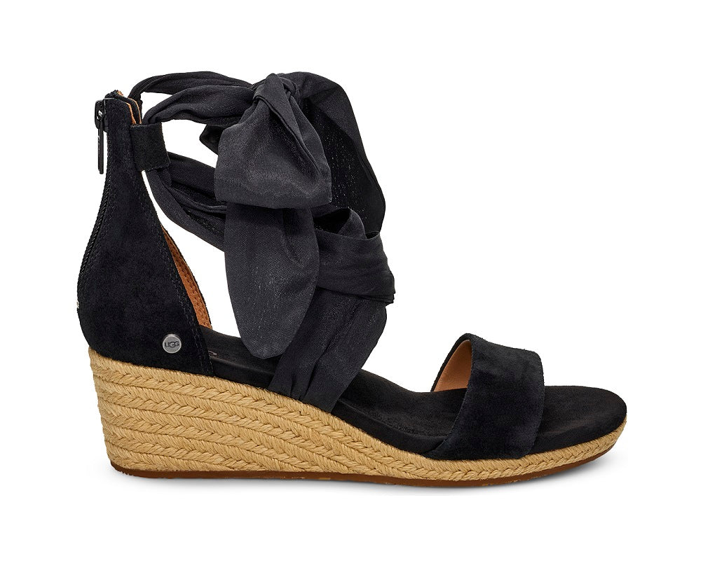 UGG Sandals - Trina Wedge - Black - Macaroon Collection