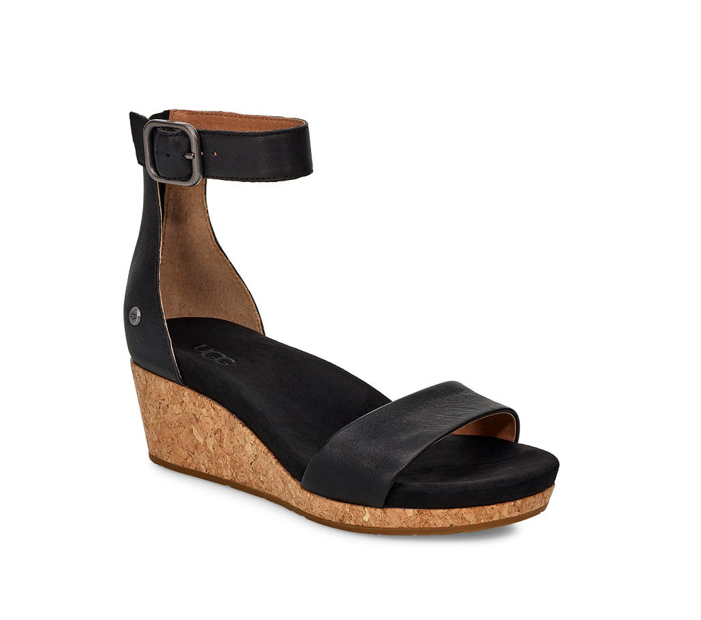 UGG Sandals - Zoe II Wedge - Black
