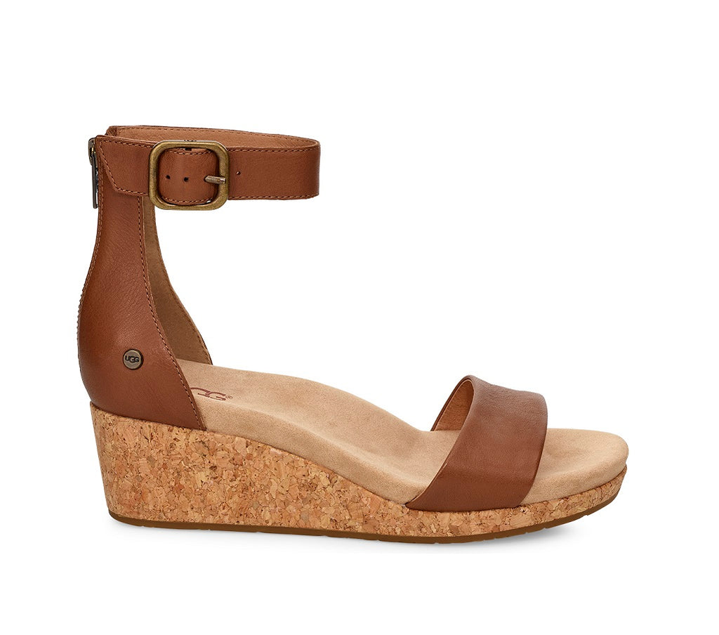UGG Sandals - Zoe II Wedge - Chestnut - Macaroon Collection