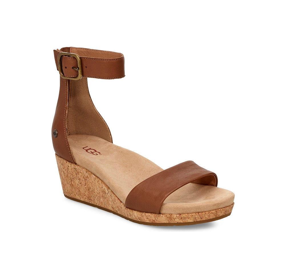 UGG Sandals - Zoe II Wedge - Chestnut