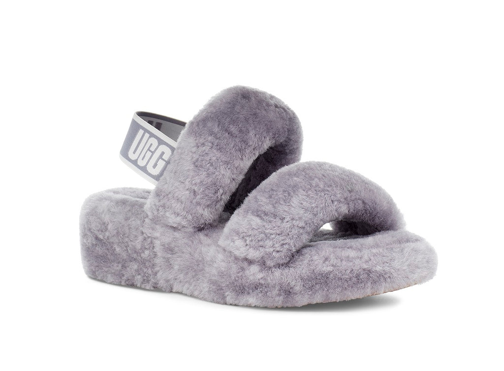 Ugg Oh-Yeah Slippers - Grey - Macaroon Collection