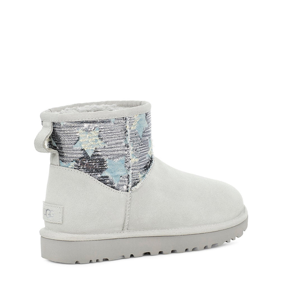 UGG Boot - Classic Mini Sequin Stars - Grey - Macaroon Collection