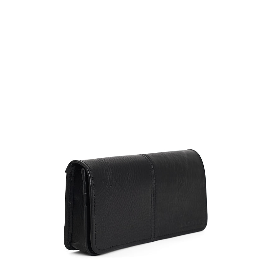 Antelo Gabby Leather Wallet - Black - Macaroon Collection