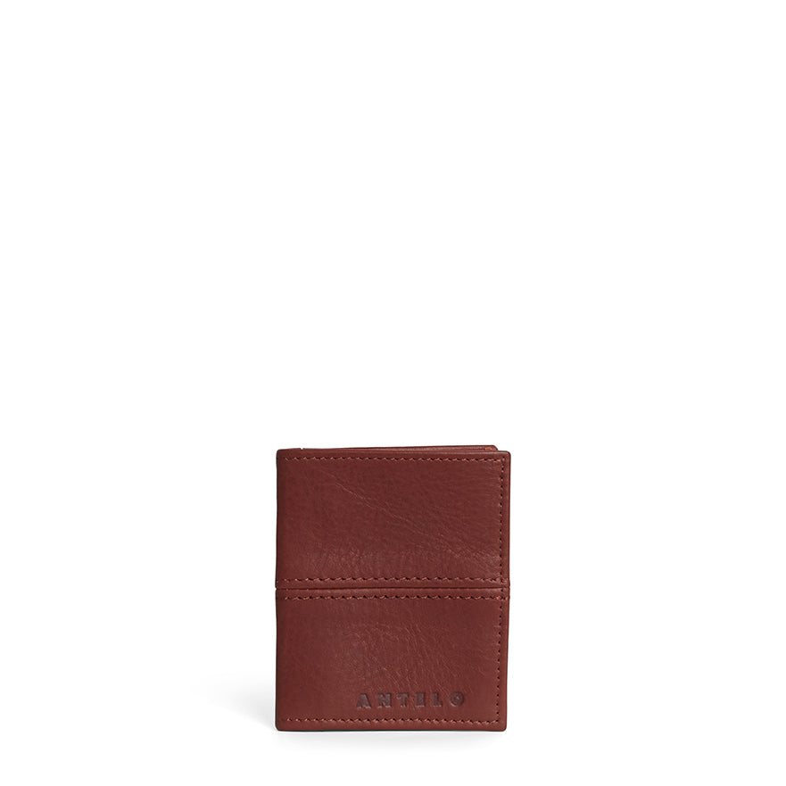 Antelo Slimline Leather Wallet - Tan - Macaroon Collection