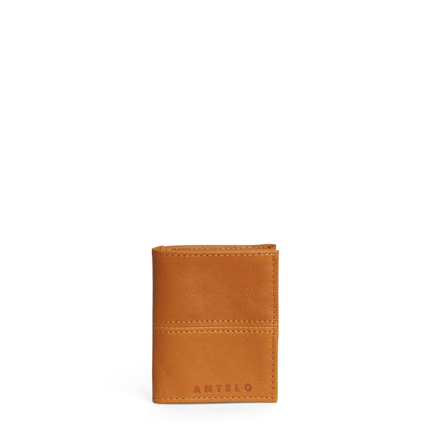 Antelo Slimline Leather Wallet - Mustard - Macaroon Collection