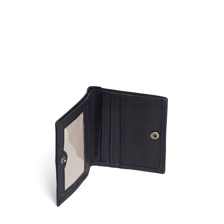 Antelo Slimline Leather Wallet - Black - Macaroon Collection