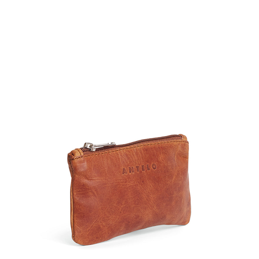 Antelo Sophia Leather Pouch - Cider - Macaroon Collection